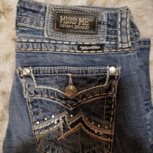 Miss Me for Buckle blue white wash jeans size 27